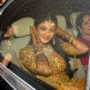 Bollywood actress Shilpa Shetty heading for her wedding venue in Khandala