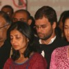 "Congress Leader Rahul Gandhi paying homage to the victims of terror at a programme ""Nantion''s Solidarity Against Terror"" (An Event at the India Gate to send strong message against Terrorism) on Sunday in New Delhi 28 Nov 09"
