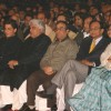 "Delhi CM Sheila Dikshit, Bollywood Actor Shahrukh Khan, Javed Akhtar and Union Ministers P Chidambaram and Ajay Maken at a programme ""Nantion''s Solidarity Against Terror"" (An Event at the India Gate to send strong message against"