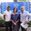 Actor Purab Kohli, ABN Amro country exec Meera Sanyal & Editor of Sanctuary mag Bittu Sahgal at NCPA
