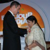 Lata was conferred the Insignia of Officier de la Legionne d''Honneur by French ambassador to India Jirtme Bonnafont on the occasion of the opening of the French Film Festival from December 2-6 in Mumbai