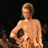 A Model showcasing designer Tina Haagensen''s creation at the ''''India International Fashion Week'''' at Gurgaon on Thursday