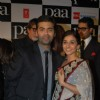 "Karan Johar with bollywood actress Vidya Balan at the premiere of film ""Paa"""