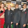 "Bollywood actors Abhishek Bachchan and Amitabh Bachchan at the premiere of film ""Paa"""