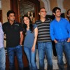 R Madhavan, Kareena Kapoor, Sharman Joshi and Vidhu Vinod Chopra at the press meet of 3 IDIOTS