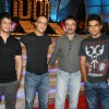 Sharman Joshi, Vidhu Vinod Chopra and R Madhavan at the 3 idiots star cast at Saregama 1000th Episode Bash at Andheri, Mumbai