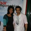 "Bollywood actors Priyanka Chopra and Uday Chopra at the promotional event of ""Pyaar Impossible"" at Radio Mirchi studio"