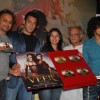 "Bollywood actor Salman Khan, Sunidhi Chauhan, Gulzar and Sonu Nigam at music release of Film ""Veer"""