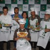 "Model-turned-actors Milind Soman and Aryan Vaid turned chefs at ""Carlsberg"" event at Bandra,Mumbai"