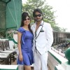 Mouni Roy with Gourav at Mid-Day race in Mahalxmi Race Course