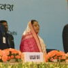 President Pratibha Devisingh Patil , Union Minister for Overseas Indian Affairs Vayalar Ravi and Lord Khalid Hameed at the 8th Pravasi Bharatiya Conference in New Delhi on Saturday