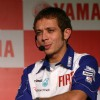 Motogp world champion Valentino Rossi at a press meet in New Delhi on Sunday