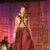 A model walking at designer Manish Malhotra Show at Chivas Studio in Grand Hyatt Mumbai on Sunday Night