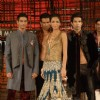 Models walking at designer Manish Malhotra Show at Chivas Studio in Grand Hyatt Mumbai on Sunday Night