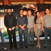 "Bollywood actors Siddharth, Aditya Pancholi, and Anupam Kher at the music launch of ""Striker"" in Mumbai"