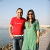 Konkana Sen Sharma and Rahul Bose at Mumbai marathon promotional event
