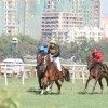 Bollywood actor Salman Khan rides a horse at Hello Million race in Mumbai