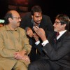 Amar Singh, Ajay Devgan and Amitabh Bachchan at Stardust Awards 2010 in Mumbai