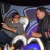Bollywood Actor Amitabh Bachchan with Mithun Chakraborty on the sets of DID in Mumbai on Monday