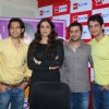 "Bollywood actors Vatsal Sheth, Tabu and Sharman Joshi at the promotional event of their upcoming movie ""Toh Baat Pakki"" at Big FM studios,Andheri in Mumbai"