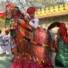 Folk Artists from Rajasthan at the Surajkund Crafts Mela in Faridabad on Sunday New Delhi,31 Jan 2010