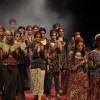 Models walk on the ramp for Sabyasachi Mukherjee at Lakme Fashion Week 2010