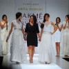 Models walk on the ramp for designer Anita Dongre at Lakme Fashion Week 2010