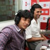 Riteish Deshmukh and Akshay Kumar at Housefull music launch at Big FM