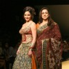 Bollywood actress Esha Deol with her mother Hema Malini at the Wills Lifestyle India Fashion Week 2010, in New Delhi
