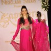 Model walks the ramp for designers Nirati and Neelam Shah