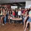 Femina Miss India finalists make giant pizza at Novotel Hotel at Novotel, Juhu
