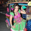 "Item girl Rakhi Sawant on the location of ""Zara Nach Ke Dikha"" at Film City"