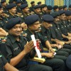Army Personnel Below Officer''s Rank at the convocation to receive IGNOU degrees under army''s Gyandeep project, in New Delhi on Wednesday
