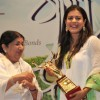 Kajol awarded at Dinanath Mangeshkar Puraskar award at Sion in Mumbai