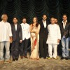 A R Rahman, Aishwarya Rai Bachchan, Abhishek Bachchan and Gulzar at ''RAAVAN'' movie music launch