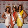 Pantaloons Femina Miss India International 2010 pose for the photographers during the press conference of PFMI 2010 in Mumbai on Monday