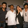 Bollywood actors Ranbir Kapoor, Katrina Kaif, Arjun Rampal and director Prakash Jha at the press conference for their film