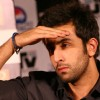 "Ranbir Kapoor at a press conference for his film ""RAJNEETI"",in New Delhi"