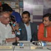 Chetan Bhagat and kapish Mehra at unveils Pritish Nandy''''s Book Again at Crossword, Mumbai