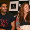 "Abhishek Bachchan and Aishwarya Rai Bachchan while promoting their film ""Raavan"" in Ambience Mall, Gurgaon Sunday"