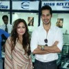 Bollywood Actors Tarina Patel and Dino Morea pose for the photographers during the inauguration of Bezel, a multi-brand lifestyle watch store from Gitanjali Lifestyle at Atria Mall, Worli in Mumbai on Wednesday, 23 June 2010 Gitanjali appoints