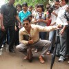 Akshay Kumar inspecting the Roads of Mumbai as Sachin Tichkule of 'Khatta Meetha'