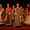 Models showcasing designer Sabyasachi Mukherjee''s creations at the Delhi Counter Week 2010, in New Delhi on Tuesday