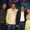 Dharmendra, Sunidhi Chauhan and Anu Malik on the sets of Indian Idol at Film City
