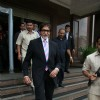 Amitabh Bachchan at ESPN Airtel Champions League Press conference at Taj Lands End, Bandra, Mumbai on Friday Afternoon