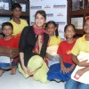 Isha Koppikar with Akanksha children at Welspun showroom at Andheri