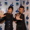 Hussian and Abhijeet Sawant on the sets of Indian Idol at Filmistan