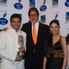 Rakesh Maini, Sree Ram, Amitabh Bachchan, Sunidhi Chauhan and Bhoomi at Indian Idol 5 grand finale at Filmistan
