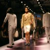 Models showcasing designers Karan Johar and Varun Bahl''s creations at the Ven Heusen India Mens Week, in New Delhi