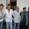 Ashish Chaudhary, Sanjay Dutt, Arshad Warsi and Ritesh Deshmukh at Double Dhamaal film launch at Mehboob